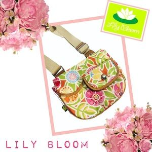 LILY BLOOM Brightly Colored Polyester Crossbody